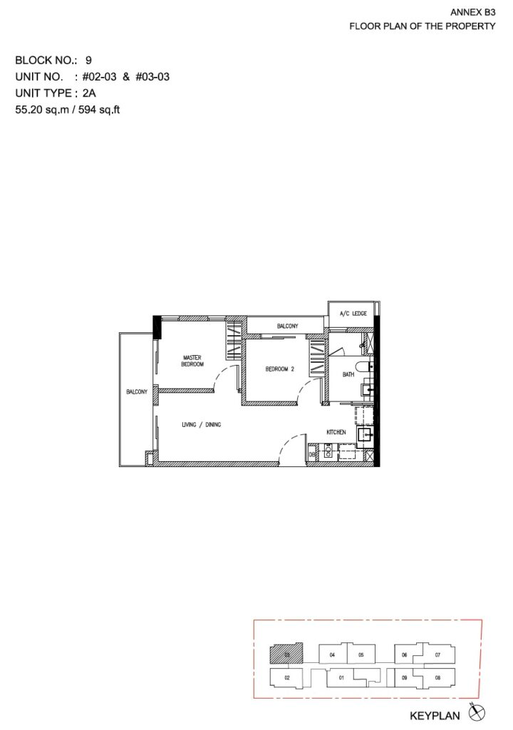 Roots at Transit - floor plan 2BR stack 03