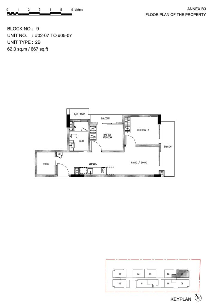 Roots at Transit - floor plan 2BR stack 07