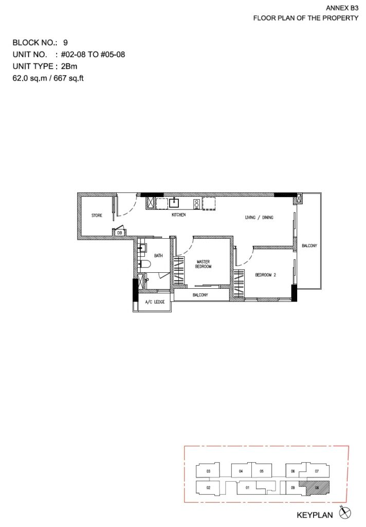 Roots at Transit - floor plan 2BR stack 08