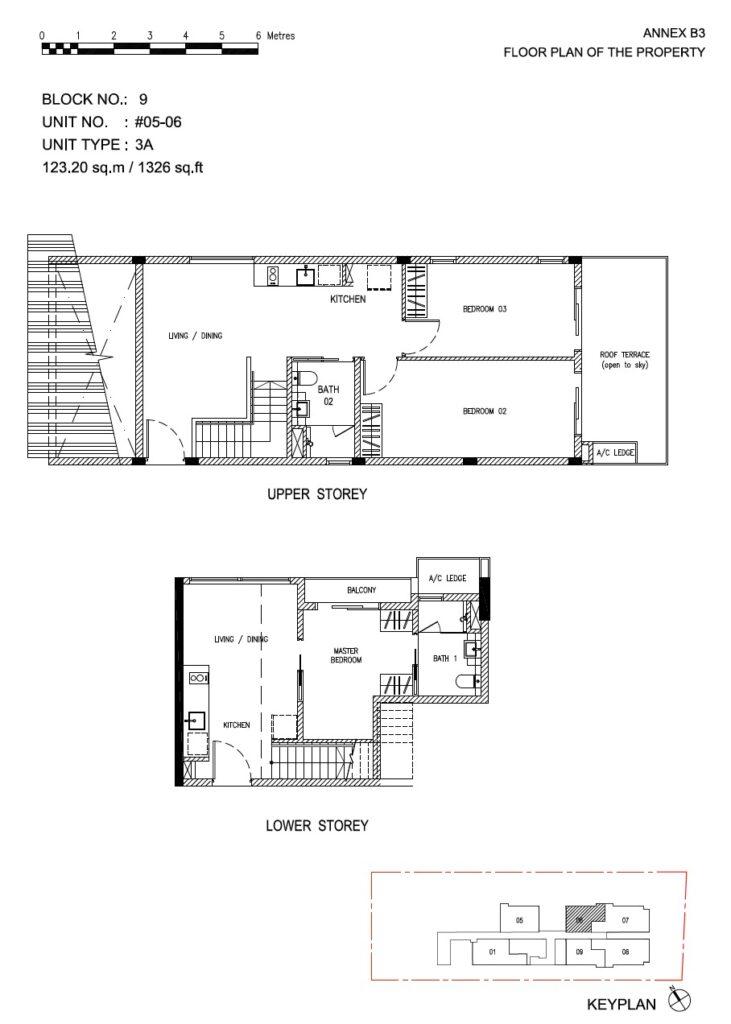 Roots at Transit - floor plan 3BR duplex