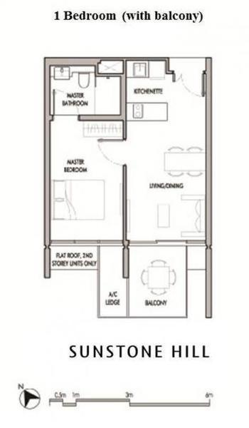 Sunstone Hill floor plan 1BR