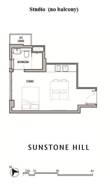 Sunstone Hill floor plan studio