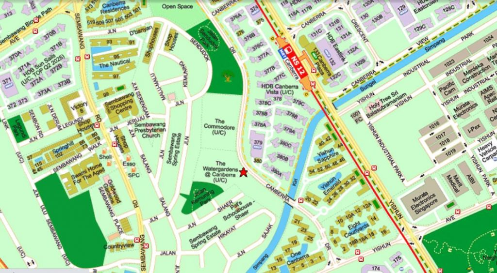 WaterGardens Canberra- Street Directory Map