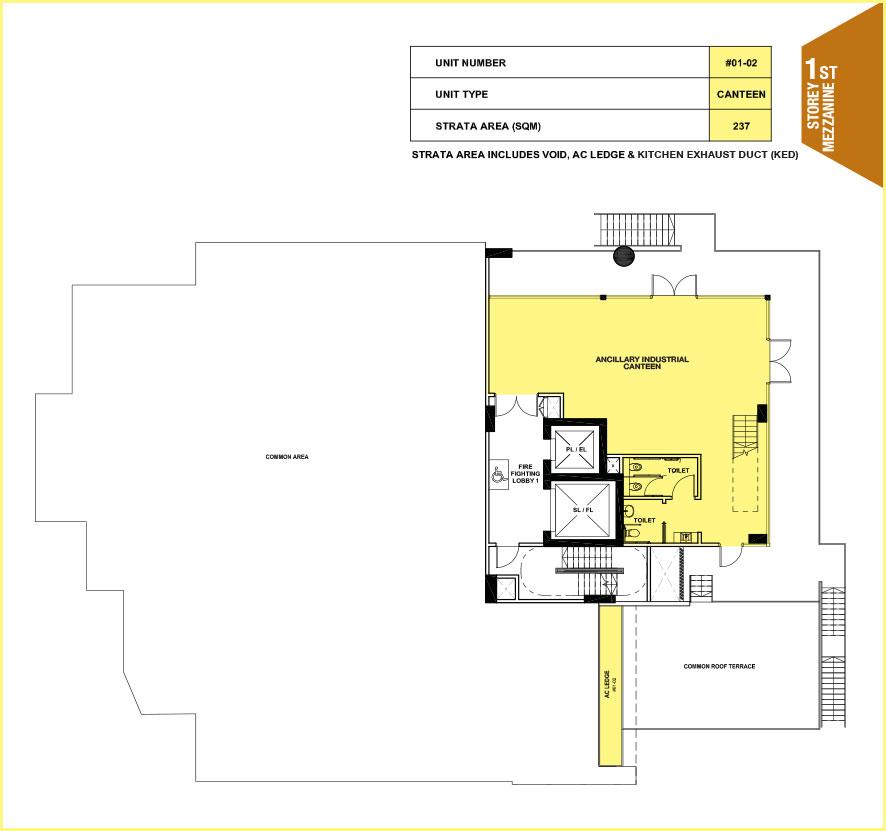 Citrine-foodland-floor plan-1st floor mezzanine