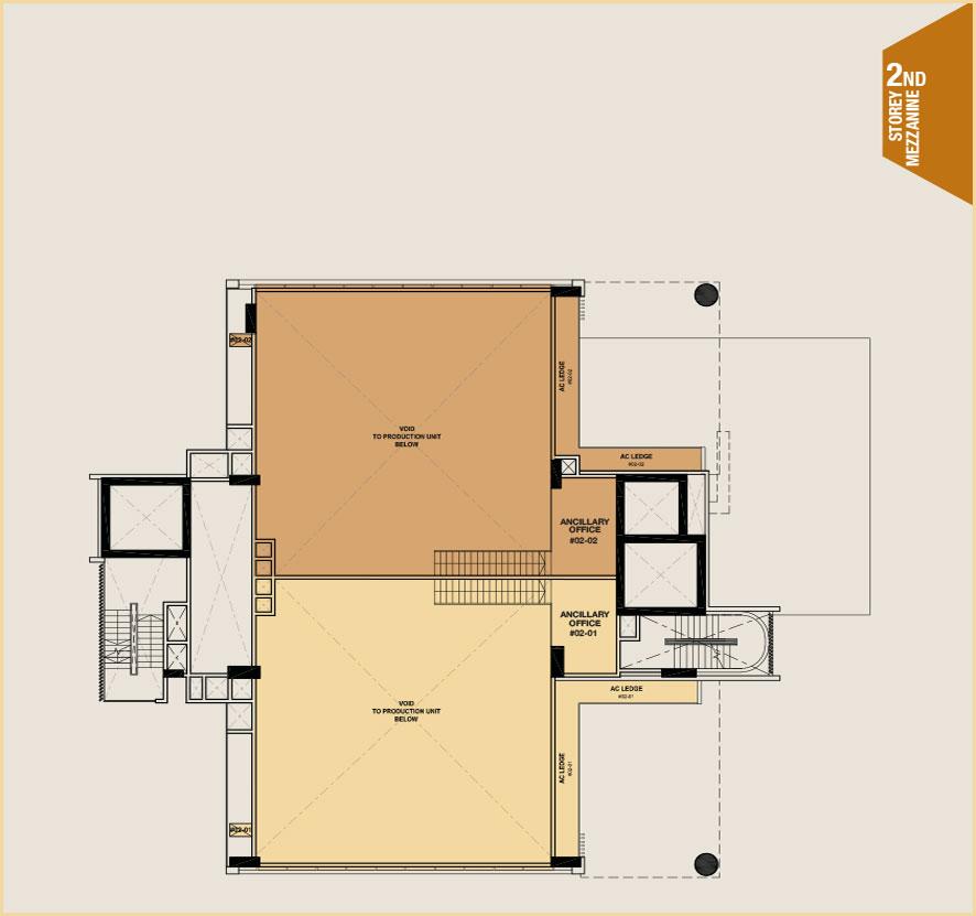 Citrine-foodland-floor plan-2nd floor mezzanine