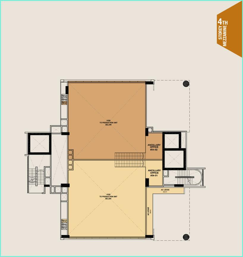 Citrine-foodland-floor plan-4th floor mezzanine