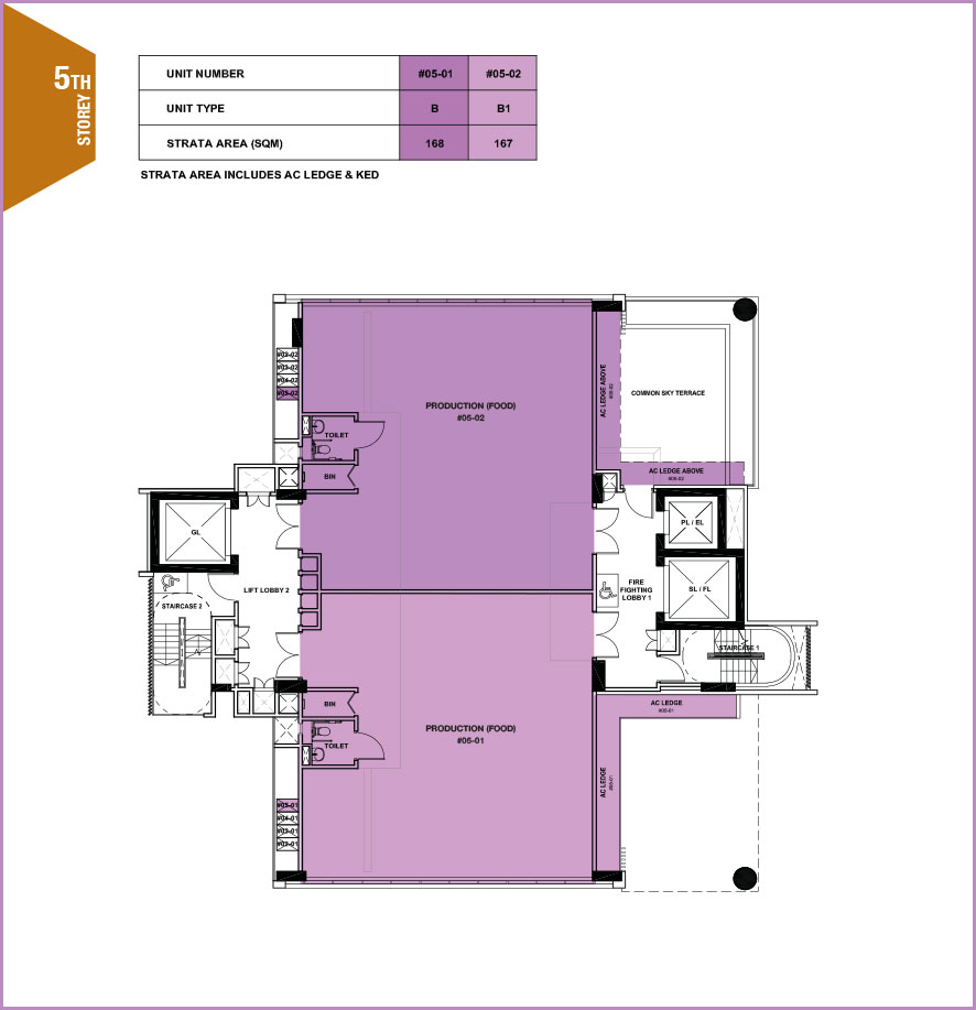 Citrine-foodland-floor plan-5th floor