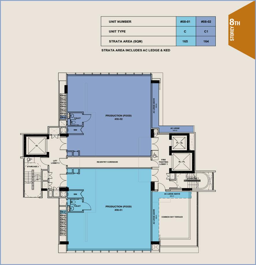 Citrine-foodland-floor plan-8th floor
