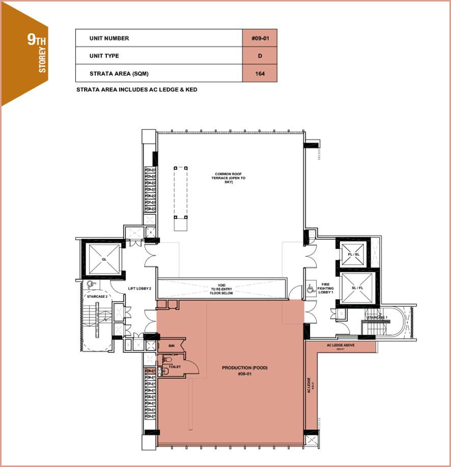 Citrine-foodland-floor plan-9th floor