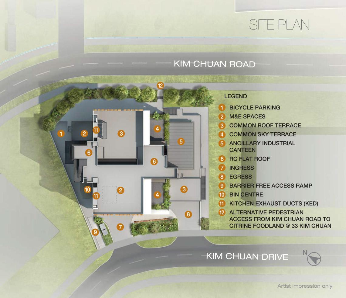 Citrine-foodland-site plan