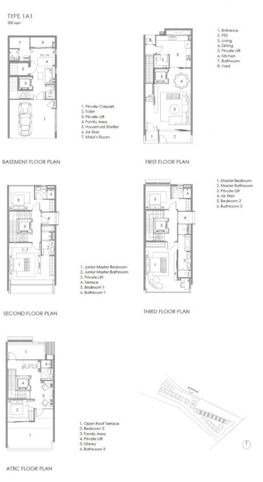 Parkwood Collection-floor plan type 1A-1